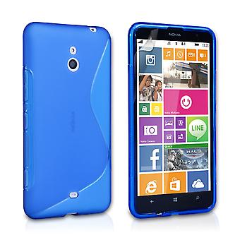 Caseflex Nokia Lumia 1320 Silicone Gel S-Line Case - Blue