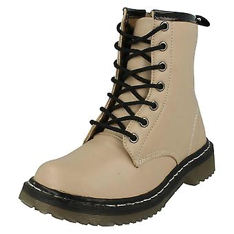 Girls Spot On Low Casual Lace Up Ankle Boots H3014