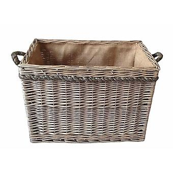Medium Rectangular Rope Handled Log Basket