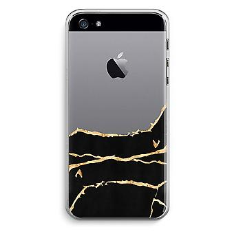 iPhone 5 / 5 s / SE Transparent Case (weich) - Gold-Marmor