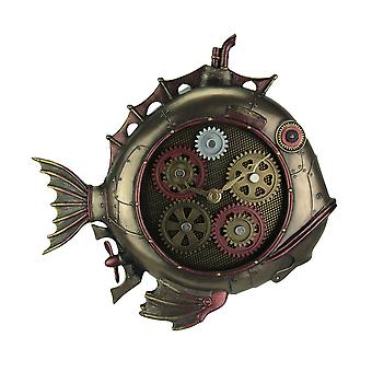 Steampunk Style Fish Submarine Wall Clock