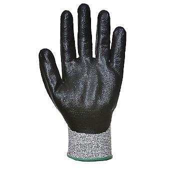 Portwest - 1 Pair Pack Cut 5 Resistant 3/4 Nitrile Foam Hand Protection Glove