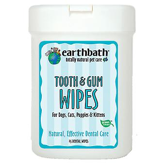 Earthbath Tooth & Gum Wipes Pack 25