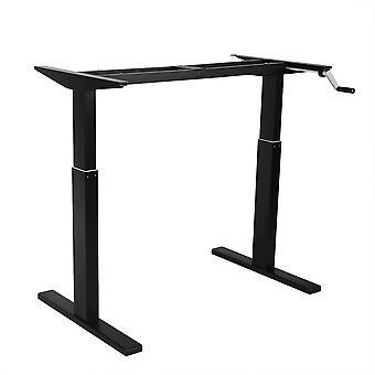 Flexispot 48 inch crank hoogte verstelbaar kantoor Workstation frame alleen staande Bureau poot (zwart)