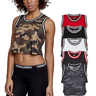 Urban Classics Ladies - Cropped Mesh Basketball Tank Top