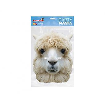 Alpaca Animal 2D Card Party Face Mask