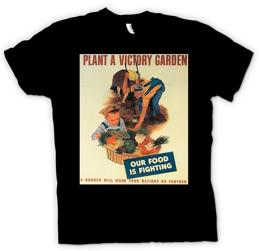 Mens T-shirt - Plant ein Garten - Krieg Poster
