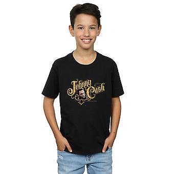 Johnny Cash jungen Bargeld Schriftart T-Shirt