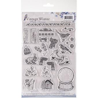 Find It Amy Design Vintage Winter Clear Stamps-Icons