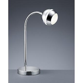 Trio Lighting Baloubet Young Living Chrome Plastic Table Lamp