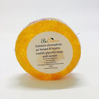 Glycerin Body soap with Loofah sponge - Lemon 100gr