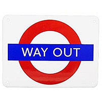 Выход из лондонского метро Roundel эмаль Холодильник магнит