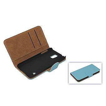 Protective case pouch (flip cross) for mobile phone Apple iPhone 6 plus light blue