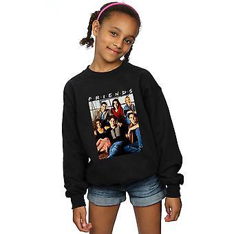 Mädchen Gruppe Freunde Foto Fenster Sweatshirt