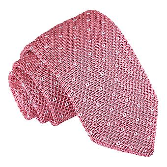Baby rosa gesprenkelt V Polka Dot gestrickte schmale Krawatte