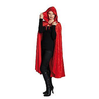 Veludo de capa de veludo vermelho cabo cabo nobre encapuzados traje de cabo para mulheres