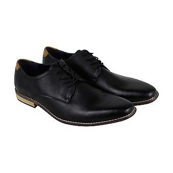Steve Madden Lorenzzo2 Mens zwart lederen Casual kleding Lace Up Oxford schoenen