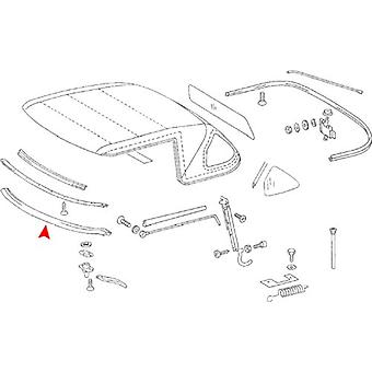 URO Parts 107 779 0022 Convertible Top to Windshield Convertible Front Top Seal