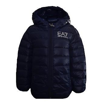 EA7 Boys Ea7 Kids Navy Blue Down Jacket