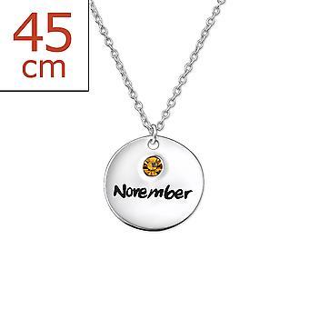 November Geburtsstein - 925 Sterlingsilber Jewelled Halsketten - W30223x