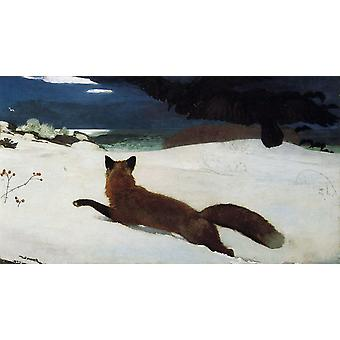 Fox Hunt, Winslow Homer, 80x40cm
