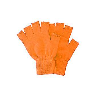Gloves  Knitted fingerless gloves orange