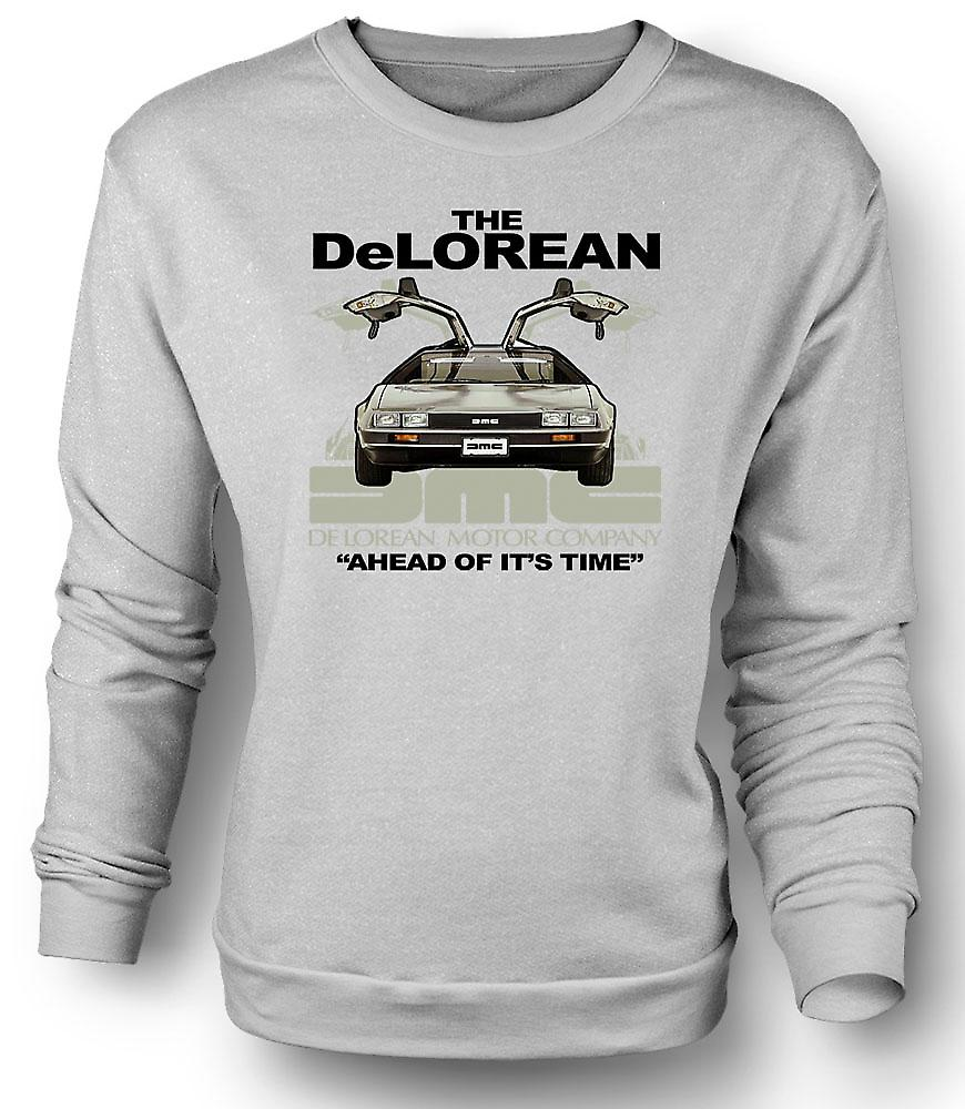 Mens Sweatshirt DeLorean - framåt av sin tid