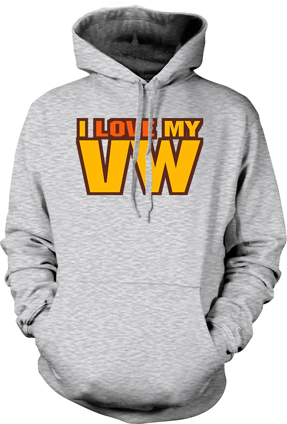 Mens Hoodie - I Love My VW - Car Enthusiast