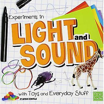 Eksperymenty w światło i dźwięk z zabawki i rzeczy codziennego użytku (nauki zabawy)