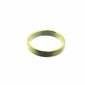 9ct Gold 4mm plain flat Wedding Ring Size Q