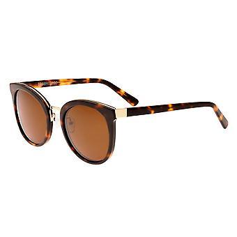 Bertha Lucy Polarized Sunglasses - Dark Brown Tortoise/Brown