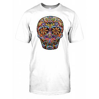 Aztec Carved Skull Colourful Kids T Shirt