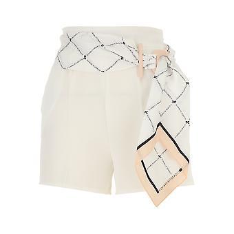 Elisabetta Franchi weiß Polyester Shorts