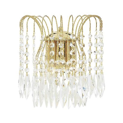 Searchlight 5172-2 Waterfall Gold Plated Wall Bracket Complete With Crystal