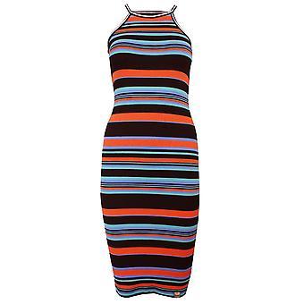 Vestido de rayas multicolores de la mujer tianamidi Superdry