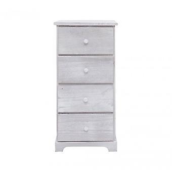 Rebecca möbler Dresser säng låda 4 lådor vit trä design retro-kammare