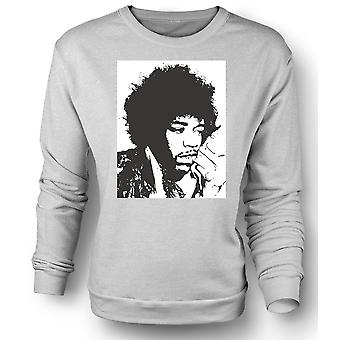 Mens Sweatshirt Jimi Hendrix - BW - Rock Blues