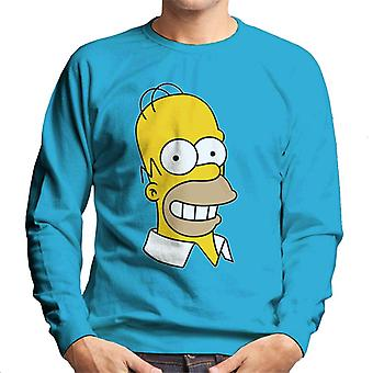 The Simpsons Smiling Homer Men's Sweatshirt