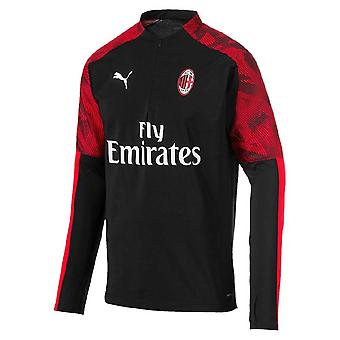 2019-2020 AC Milan Puma Quarter Zip Training Top (Black)