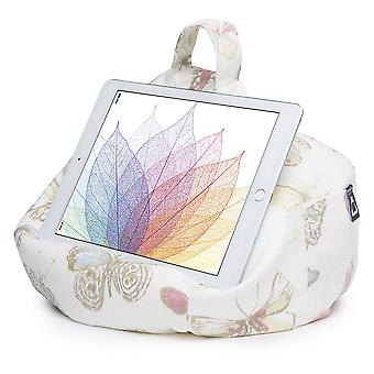 Ipad, tablet & ereader bean bag stand by ibeani - butterfly cream