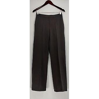H door Halston vrouwen ' s broek Ponte brei Wide Leg Broek grijs A269552