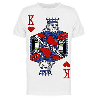 Playing  King Holding Bottle Tee Men's -Image by Shutterstock