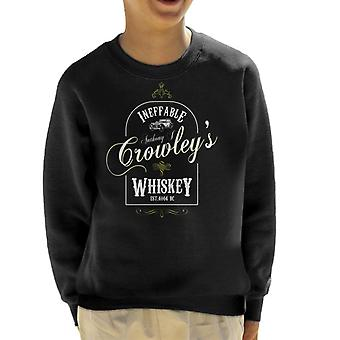 Anthony J Crowleys Ineffable Whiskey Good Omens Kid's Sweatshirt