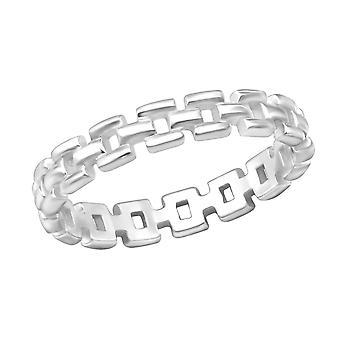 Cadena - anillos de llanura de plata esterlina 925 - W30400X