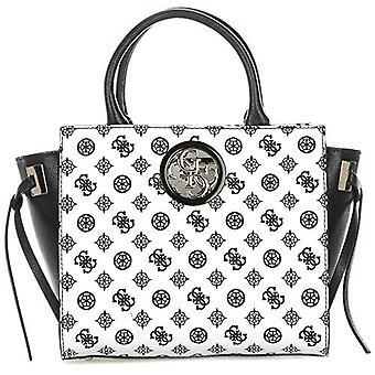 Guess Open Road Society Satchel Multi-coloured Women's Shoulder Bag (Black Multi) 15.5x23.5x36 cm (W x H x L)