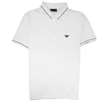 Emporio Armani Armani Jeans Tipped Logo Polo Shirt White 0100