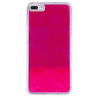 Fall CoolSkin flytande Neon TPU för iPhone 8/7/6 rosa