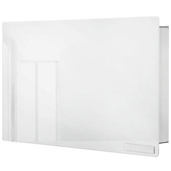 Key box stainless steel matt, glass white, 6 magnets