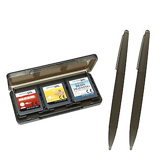 Large xl stylus & game case for nintendo ds, dsi, 2ds, 3ds - play & store kit black