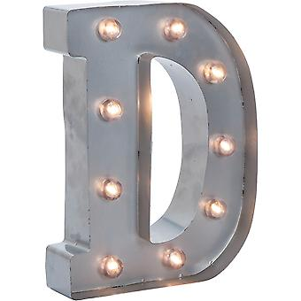 Silver Metal Marquee Letter 9.875